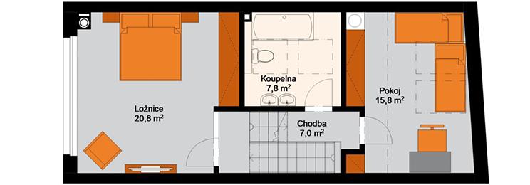 Rezidence Candát - 3.NP : Rezidence Rybáře, Hodonín