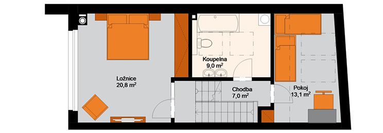 Rezidence Sumec - 3.NP : Rezidence Rybáře, Hodonín