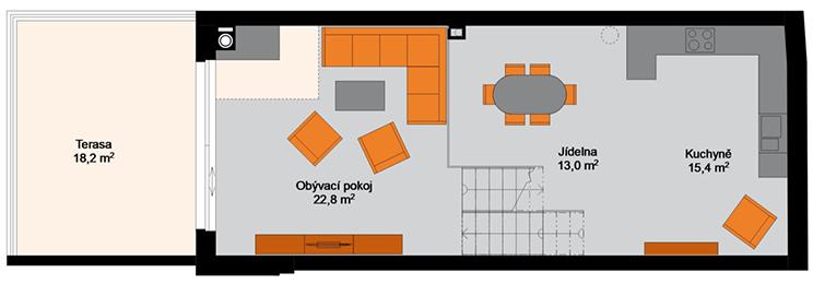 Rezidence Amur - 2.NP : Rezidence Rybáře, Hodonín