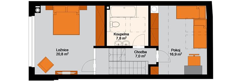 Rezidence Amur - 3.NP : Rezidence Rybáře, Hodonín